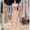รหัส ชุดราตรียาว :PF002 ชุดราตรียาว เดรสออกงาน ชุดไปงานแต่งงาน ชุดแซก สีชมพู สวยด้วยลูกไม้ด้านบนและเรียบหรูด้วยผ้าซาติน