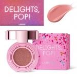 Laneige Cushion Brusher Holiday Delights Pop Collection สี Rosy Pink Pop ครั้งแรกของบลัชคุชชั่นจากลาเนจ มอบพวงแก้มสุกปลั่งสดใสอย่างที่ไม่เคยมีมาก่อน! สีชมพูกุหลาบสวยสด มอบเม็ดสีสดชัด อย่างมีมิติ ให้พวงแก้มดูสุกปลั่งสดใสอย่างเป็นธรรมชาติ