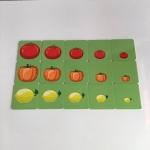 การ์ดเกมเรียงลำดับรูปภาพ รูปผัก สำหรับเด็ก 3 ขวบ