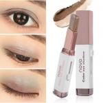 NOVO Color Eye Shadow Stick Double Color 04 Dark Coffee อายแชโดว์ทูโทน มี 2 สีในแท่งเดียว เนื้อครีมสีไฮไลท์ ทาได้ทั้งตา และแก้ม จัดวางรูปแบบให้สะดวกต่อการใช้ จึงแต่งหน้าได้อย่างง่ายและรวดเร็ว สาวๆที่ทาตาไม่เก่ง เบลนด์สียังไม่เป็นแนะนำเลยค่า