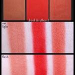 Sleek blush By 3 Blush Palette #365 Flame โทนแดง คุ้มสุดๆ กับเซ็ทบลัชรวมสีสวย 3 สีไว้ในตลับเดียว ประกอบด้วย Furnace : สีน้ำตาลอมแดง มี Shimmer,Bon Fire : สีแดงแด๊งงงง แดง! และแอบเจือส้มไว้จี๊ดนึง คล้าย Exhibit A เนื้อ matte,Molten : สีแดงอมส้ม