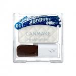 Canmake Highlighter # 01 Milk White สีขาว ไฮไลท์มุกประกายวิ้ง เพิ่มความคมชัดให้ใบหน้า ทำให้ผิวดูGlow มีมิติอย่างเป็นธรรมชาติ