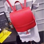 กระเป๋าเป้สีแดง กระเป๋าสะพายหลัง ทรงเรียบๆ เหมาะทุกโอกาส แฟชั่นเกาหลี