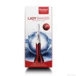 Kemei XL-8188 Lady Shaver มีดโกนกันคิ้วไฟฟ้าอิเล็คทรอนิกสำหรับผู้หญิงสาว สามารถโกนขนคิ้วหรือขนอื่นๆ ตามที่ต้องการ อุปกรณ์มีคุณภาพสูงและน้ำหนักเบา ขนาดเล็กกระชับมือออกแบบง่ายต่อการถือ พกพาสะดวก ให้คิ้วคุณสวยได้ดั่งใจทุกที่ ทุกเวลา