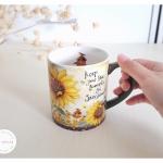 Ceramic Mug - Sunflowers แก้วเซรามิค ลายดอกไม้