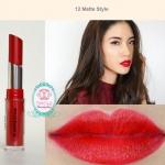 Jordana Modern Matte Lipstick #12 Matte Style ลิปแมตตัวใหม่ติดทนแน่นกว่าเดิม! แต่มีความชุ่มชื้น ไม่ทำให้ปากแห้งหรือคล้ำ เนื้อเบา พิกเม้นที่ชัดเจนมาก กลบสีปากได้มิด แถมยังติดทนมากด้วยคือทาแล้วไม่ต้องเติมซ้ำบ่อยๆ มีสีให้เลือกมากถึง 18 สี