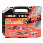 BLACK&DECKER เครื่องเจียร์แกนมินิเอนกประสงค์ 90 วัตต์ ปรับรอบได้ รุ่น RTX พร้อมอุปกรณ์ 56ชิ้น