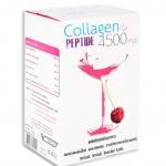 Donut Collagen Peptide 4500 mg โดนัทคอลลาเจนชง 15 ซอง ที่จะช่วยเสริมสร้างคอลลาเจนในร่างกาย เพิ่มความยืดหยุ่น ลดริ้วรอย ผม และเล็บมีสุขภาพดี เพิ่มความชุ่มชื้น ผิวมีชีวิตชีวา