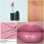 ลิปสติก MAC Frost Lipstick # Bombshell สีชมพประกายชิมเมอร์แวววาวระยิบระยับ ลิปสติกเนื้อครีมชุ่มชื่น ไม่แห้งง่าย อุดมด้วยวิตามิน E ช่วยปรับสภาพผิวริมฝีปากให้นุ่มนวล เรียบเนียน และช่วยให้สีสันติดทนนานตลอดวัน