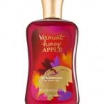 Bath & Body Works Vermont Honey Apple Shower Gel 295 ml. เจลอาบน้ำ เนื้อเจลเข้มข้น กลิ่นหอมใหม่ กลิ่นหอมสดชื่นของผลแอปเปิ้ลและลูกแพร์ผสมกลิ่นหอมอ่อนๆของดอกไม้หอมคะ