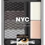 NYC Individual Eyes # 941 Smokey Browns โทนสีบรอนด์เงิน พาเลทแต่งดวงตาสวยครบในหนึ่งเดียว พาเลทอายแชโดว์ 4 สี พร้อมไฮไลท์และอายไพร์มเมอร์