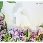 Wooden Bunny - White