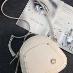 กระเป๋าสะพายข้างสีขาว ด้านในซับด้วยผ้าฝ้าย วัสดุหนัง PU อย่างดี แฟชั่นเกาหลี