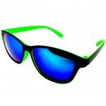 แว่นกันแดดแนวเรโทร สีเขียว เลนส์ปรอท 39บาท