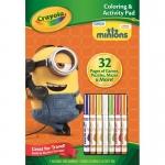 Crayola Coloring & Activity Pad แผ่นภาพระบายสี และกิจกรรม ลายมินเนี่ยน