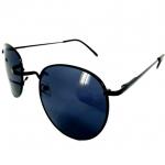 แว่นกันแดด ทรง Round Metal กรอบสีดำ เลนส์สีดำ 39 บาท