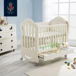 TP21058(WD10 ) เตียงไม้สีขาว White Premium Crown Multifunctio ดีไซน์สวยหรู