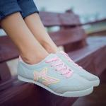 รองเท้ากีฬาผู้หญิงสีเทา พื้นฟองน้ำ หนานุ่ม รับน้ำหนักได้ดี แฟชั่นเกาหลี