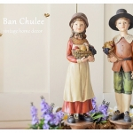 Harvest Kids Decorative Figure BOY & GIRL