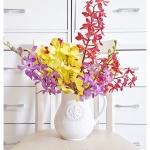 Shabby Chic Ceramic Vase แจกันเซรามิค ทรงเหยือก สีขาว
