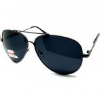 แว่นกันแดด โพลาไรซ์ ทรง Aviator กรอบสีเทาเข็ม เลนส์ดำ