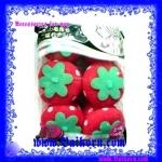 โรลม้วนผม ผลสตอเบอร์รี่แบบผลใหญ่ รุ่นใหม่ ( Magic Sponge Strawberry Big Ball Hair Culer Roller ) โรลฟองน้ำผลสตอเบอร์รี่แบบผลใหญ่กว่าปกติ
