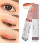 NOVO Color Eye Shadow Stick Double Color 05 Orange อายแชโดว์ทูโทน มี 2 สีในแท่งเดียว เนื้อครีมสีไฮไลท์ ทาได้ทั้งตา และแก้ม จัดวางรูปแบบให้สะดวกต่อการใช้ จึงแต่งหน้าได้อย่างง่ายและรวดเร็ว สาวๆที่ทาตาไม่เก่ง เบลนด์สียังไม่เป็นแนะนำเลยค่า