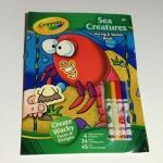 Crayola Sea Creatures Coloring & Sticker Book สมุดระบายสี พร้อมสีเมจิก และสติกเกอร์