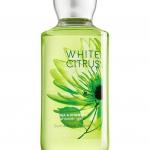 Bath & Body Works White Citrus Shower Gel 295 ml. เจลอาบน้ำ กลิ่นนี้จะมีความหอมสดชื่นซีตัสมากๆ คล้ายกลิ่นของไอศรีมรสมะนาว ใครที่เบื่อกลิ่นหอมของดอกไม้ลองเปลี่ยนมาใช้กลิ่นนี้ดูรับรองไม่ผิดหวังค่ะ