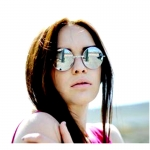 แว่นกันแดด ทรงกรม Oversize กรอบสีเงิน เลนส์ปรอท มองออกเป็น เลนส์สีเทา การ์เดียล สวย รุ่น Limitted