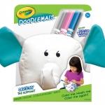 Crayola Doodlemals: The Elephant ตุ๊กตาระบายสี รูปช้าง พร้อมสีเมจิก ล้างออกได้