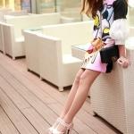 รองเท้าส้นสูงผู้หญิงสีชมพู รัดส้น เข็มขัดคู่ แนววินเทจ หรูแบบเรียบง่าย แฟชั่นเกาหลี
