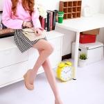รองเท้าส้นเตารีดสีชมพู หุ้มส้น ตกแต่งระบายลายลูกไม้ หัวมล สไตล์หวาน ส้นสูง8cm แฟชั่นเกาหลี