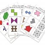 แบบฝึกทักษะการสังเกตรูปมิติสัมพันธ์ ระบายสีช่องขวามือให้เหมือนแบบด้านซ้ายมือ (ระดับ อ.3 ขึ้นไป)