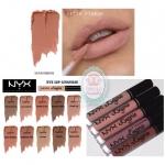 NYX Lip Lingerie Liquid Lipstick # 07 Satin Ribbon ลิปสีนู้ดจาก NYX คอเลคชั่นใหม่ ที่รีวิวแน่น หายากมากๆในเมืองไทย เนื้อครีมเป็นแบบมูสเข้มข้น ที่เห็นแล้วสวยทุกสี ทาลื่น ติดทน กลบปากมิด