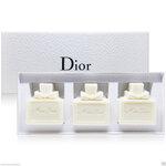 Christian Dior Miss Dior Silky Soap Gift Set 50g. x 3 เซ็ทสบู่อาบน้ำกลิ่นน้ำหอมสุดหรูจากดิออร์ ให้คุณรู้สึกเหมือนได้อาบน้ำหอม ฟองครีมเนียนนุ่ม บำรุงผิวด้วยมอยเจอร์ไรเซอร์เข้มข้น เก็บล็อคความชุ่มชื่นตามธรรมชาติในผิว อ่อนโยนและบำรุงผิวอย่างธรรมชาติ เผยผิวนุ