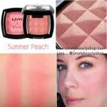 NYX Powder Blush # PB27 Summer Peach สีส้มอมชมพูพีชประกายชิมเมอร์สีทองละเอียด เข้าได้กับทุกสีผิว บลัชออนจาก NYX เนื้อสีแน่น ละเอียด สีสันสดใส ติดทนนานตลอดวัน สาวๆสามารถพกพาไปเพิ่มความสีสันให้กับใบหน้าได้ทุกที่ทุกเวลา มีสีให้เลือกหลากหลาย