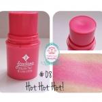 Jordana Color Tint Blush Stick #08 Hot, Hot, Hot สีชมพูเข้ม บลัสออนเนื้อครีมชนิดแท่งแบบหมุน แบรน์ดังจากอเมริกา เนื้อครีมเกลี่ยง่ายไม่เป็นก้อน เล็กกะทัดรัดพกพาสะดวก สีสันเด่นชัดดูเป็นธรรมชาติ ติดทนนาน ไม่เป็นคราบ เหมาะสำหรับทุกสภาพผิว