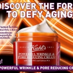 Kiehl's Powerful Wrinkle and Pore Reducing Cream 50 ml. ครีมต้านริ้วรอย อุดมไปด้วยวิตามินเพื่อความแข็งแรงของผิว ด้วยส่วนผสมของโมเลกุลอาหารผิว Copper PCA และ Calcium PCA ทำให้ริ้วรอยลดเลือนอย่างเห็นได้ชัด พร้อมทำให้รูขุมขนแลดูเล็กลง