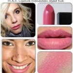 ลิปสติก MAC Cremesheen Lipstick # Speed Dial สีโทนชมพูกลีบบัว ลิปสติกเนื้อครีม สัมผัสนุ่มลื่น มีส่วนผสมของมอยเจอไรเซอร์ช่วยเพิ่มความชุ่มชื่นให้กับริมฝีปากคุณ พร้อมอณูมุกเล็กๆ ช่วยเพิ่มเสน่ห์ให้ริมฝีปากดูเซ็กซี่เย้ายวนใจ