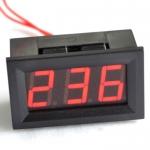 จอแสดงผลแรงดันไฟฟ้า AC LED สีแดง 70V-500v