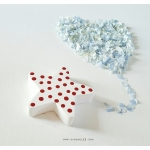 Wooden Polka Dot Star