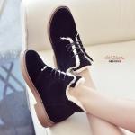 รองเท้าบูทผู้หญิง บูทสั้น บุผ้าด้านใน ใส่เล่นหิมะ (สีดำ )