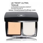 Chanel Le Teint Ultra Tenue Compact รองพื้นอัดแข็งรุ่นใหม่ล่าสุดที่ออกแบบเพื่อผิวหน้าที่สวยไร้ที่ติตั้งแต่เช้าจรดเย็น เนื้อแป้งเนียนนุ่ม และบางเบาจนกลมกลืน รู้สึกสบายผิว แต่ปกปิดดีเยี่ยม พร้อม SPF 15 ปกป้องผิวจากแสงแดด