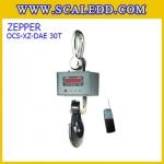 เครื่องชั่งแขวน30ตัน เครื่องชั่งดิจิตอลแบบแขวน เครื่องชั่งแขวนดิจิตอล30ตัน ตาชั่งแขวนพร้อมรีโมทคอนโทรล เครื่องชั่งแขวน30ตัน ความละเอียด10kg ZEPPER SCALE OCS-XZ-DAE 30T (ผ่านการตรวจรับรองจากสำนัก ชั่ง ตวง วัด)