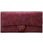 กระเป๋าสตางค์ผู้หญิง ทรงยาว 4Thread Red สีแดง