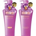 Shiseido TSUBAKI Koji Volume Touch Shampoo+ Conditioner 500*2 ml. เซ็ทคู่ แชมพูและคอนดิชันเนอร์เข้มข้น ซึบากิ โคจิ ขวดม่วง เคลือบเส้นผมให้ดูเปล่งประกายเงางามตลอดทั้งเส้น ผสานคุณค่าทอรีน เพื่อบำรุงหนังศีรษะ ให้ยืดหยุ่นสุขภาพดี ยกโคนผมลีบแบน