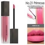 Burberry Liquid Lip Velvet No.21 Primrose ลิปสติกเนื้อครีมกึ่งแมทท์ สามารถสร้างริมฝีปากให้ดูโดดเด่นด้วยสีที่เด่นชัด แต่ให้ความรู้สึกเบาสบายและอ่อนนุ่มบนริมฝีปากเนื้อดีมาก แมตต์แบบนุ่มปากขั้นสุด ไม่ตกร่อง ปากอิ่ม ติดทน กลบสีปากมิด แถมยังเอามาทาแก้มได้