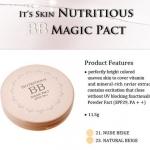 It's Skin Nutritious BB Magic Pact SPF29 PA++ เบอร์ 23 Natural Beige แป้งพัฟผสมบีบี เนื้อแป้งไม่หนักหน้า ช่วยเรื่องปกปิดริ้วรอย ดูดซับและควบคุมความมัน ให้ผิวชุ่มชื้น พร้อมกันแดด