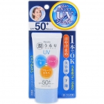 Kanebo Ururi Sunscreen UV Essence Gel SPF50+ PA+++ with Collagen & HA 50g.ใหม่กันแดดผสมคอลลาเจนและไฮยารูลอน ป้องกันผิวจากแสงแดดปกป้องขั้นสูงสุดเป็นพิเศษ เนื้อเจล ไม่มัน ไม่อุดตันรูขุมขน และกันน้ำกันเหงื่อได้ดี ไม่เป็นคราบ